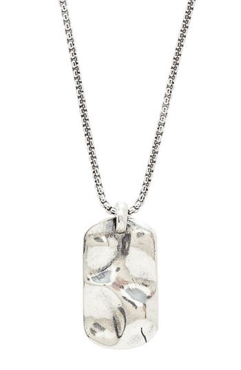 Men's Degs & Sal Hammered Dog Tag Necklace