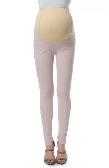 Kimi And Kai Sadie Over The Belly Maternity Denim Leggings, Pink
