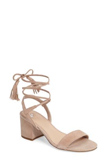 Women's Bp. Karla Block Heel Ankle Wrap Sandal, Size 8 M - Pink
