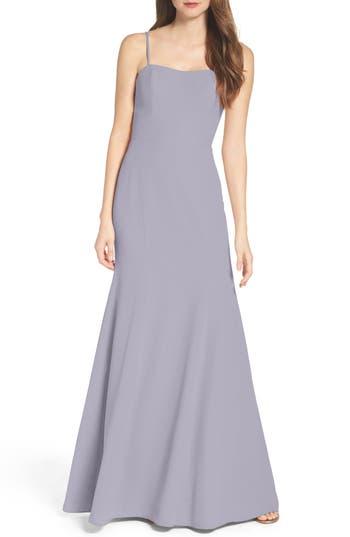 Wtoo Convertible Strap Chiffon Gown, Purple