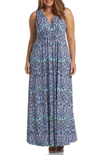 Plus Size Tart Grecia Sleeveless Jersey Maxi Dress, Pink