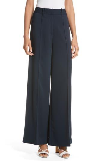 Women's Milly 'Hayden' Wide Leg Trousers, Size 0 - Blue