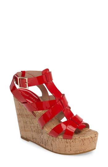 Women's Pelle Moda Rayjay Wedge Sandal, Size 6 M - Red