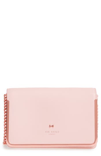 Ted Baker London Highbox Leather Convertible Clutch - Pink