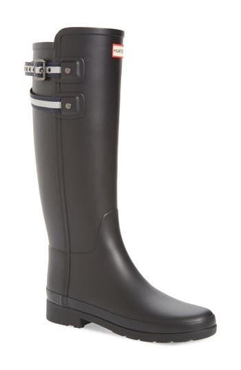 Hunter Original Refined Matte Rain Boot, Black