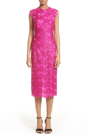 Monique Lhuillier Lace Sheath Dress