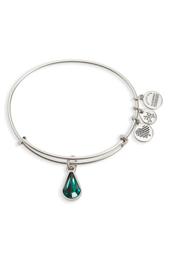 Women's Alex And Ani Birthstone Adjustable Wire Bangle