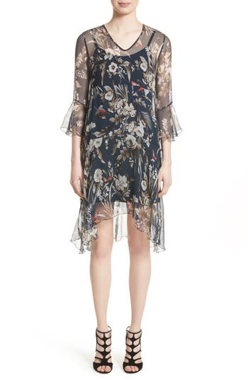 Women's Fuzzi Silk Chiffon Dress