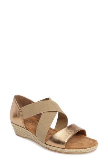Comfortiva Brye Espadrille Sandal- Metallic
