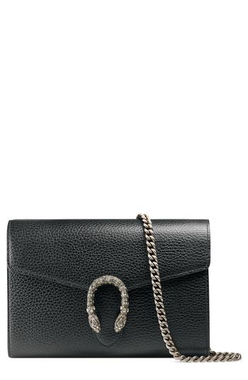 Gucci Dionysus Leather Wallet On A Chain -