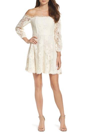 Bb Dakota Jasmin Off The Shoulder Lace Dress
