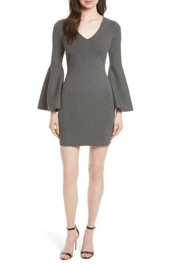 Women's Milly Swing Sleeve Knit Sheath Dress, Size Petite - Grey