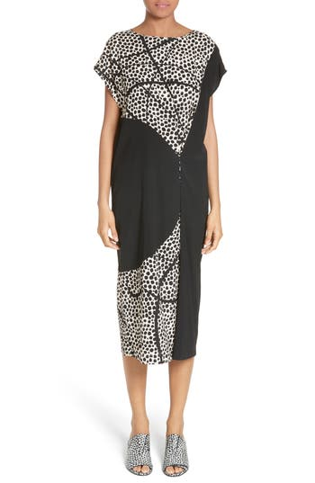 Zero + Maria Cornejo Yira Elliott Dot Stretch Silk Dress, Black