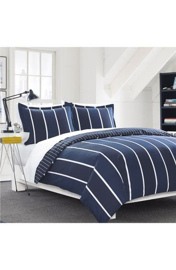 Nautica Knots Bay Duvet Cover & Sham Set, Size Twin - Blue