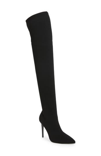 Kendall + Kylie Anabel Knit Over The Knee Boot, Black