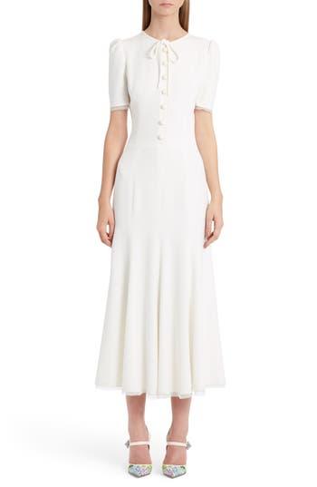 Dolce & gabbana Button Midi Dress, US / 42 IT - White