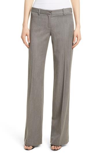 Women's Milly Dickies Straight Leg Gabardine Trousers, Size 2 - Grey