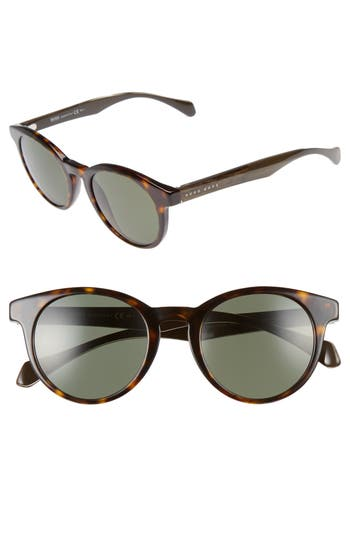 Men's Boss 50Mm Sunglasses - Dark Havana/ Grey Green