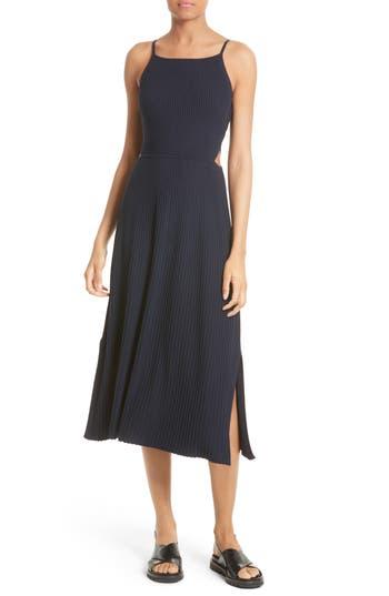 Elizabeth And James Josette Merino Wool Blend Apron Dress, Blue