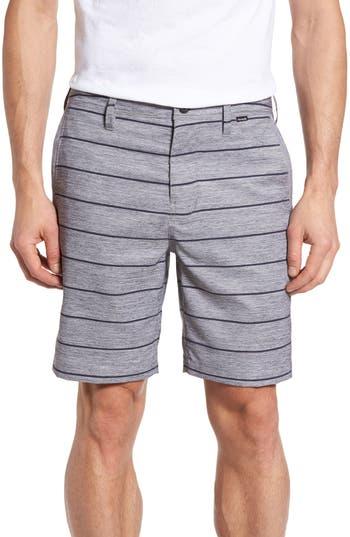 Hurley Stripe Dri-Fit Shorts, Grey