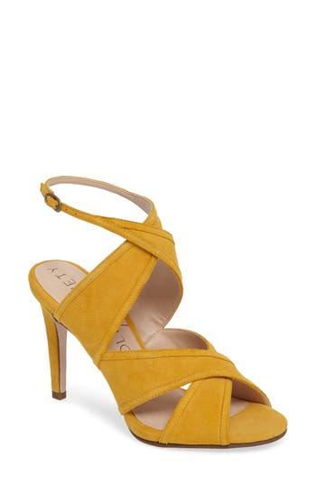 Women's Sole Society Esme Cross Strap Sandal, Size 6.5 M - Yellow