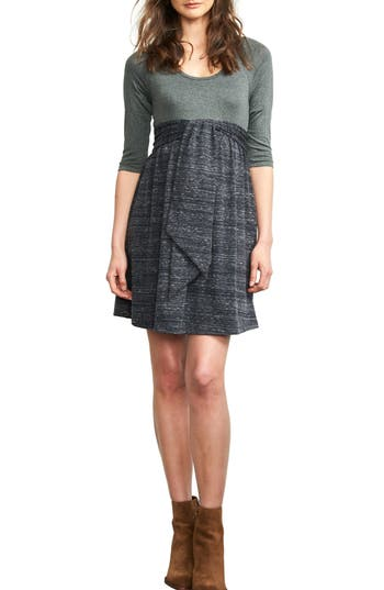 Maternal America Scoop Neck Maternity Dress, Grey