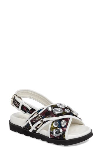 Topshop Crossover Flat - White
