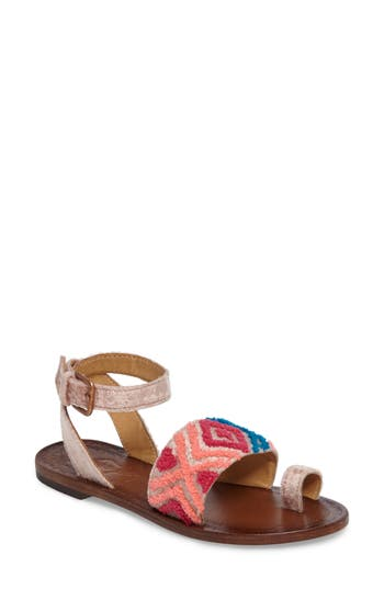 Women's Free People Torrence Ankle Wrap Sandal, Size 6-6.5US / 36EU - Pink