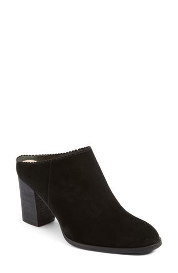 Women's Via Spiga Sophia Block Heel Mule, Size 4 M - Black