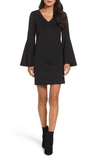 Cece Lizzie Bell Sleeve Sheath Dress