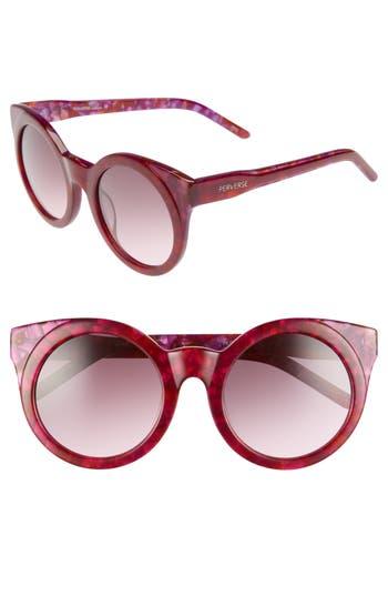 Perverse Mutiny 50Mm Gradient Lens Cat Eye Sunglasses - Fuchsia Multi/ Black
