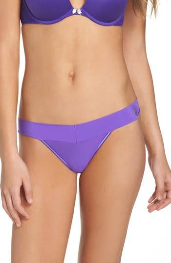 Women's Betsey Johnson Forever Perfect Thong, Size Medium - Purple