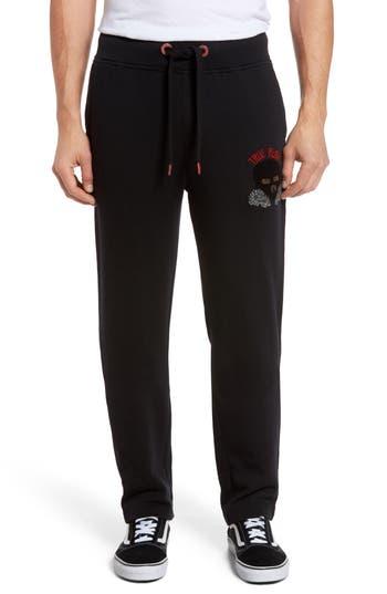 True Religion Brand Jeans Rising Sun Embroidered Sweatpants, Black