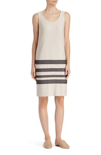 Lafayette 148 New York Stripe Sweater Dress, Size Petite - Beige