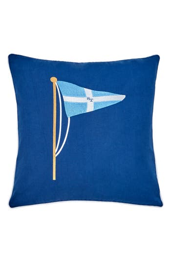 Southern Tide Yacht Club Embroidered Accent Pillow, Size One Size - Blue