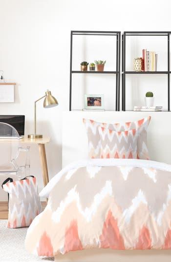 Deny Designs Zoe Wodarz Zigzagzig Bed In A Bag Duvet Cover, Sham & Accent Pillow Set, Size King - Beige