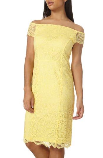 Dorothy Perkins Bardot Pencil Dress, US / 16 UK - Yellow