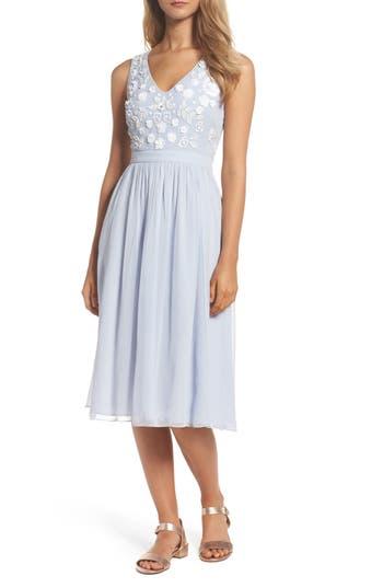 French Connection Dalia Embellished Midi Dress, Blue