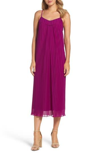Women's Maggy London Textured Slipdress, Size 2 - Purple