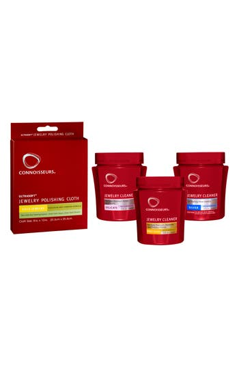 Women's Connoisseurs Jewelry Cleaning Full Set - Red
