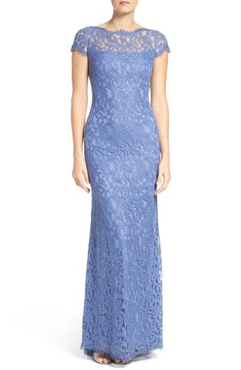 Tadashi Shoji Lace Gown, Blue