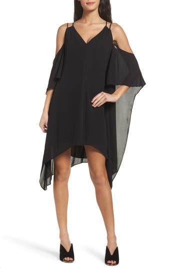Adelyn Rae Fiona Cold Shoulder Shift Dress, Black