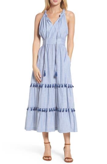 Maggy London Woven Cotton Dress, Blue