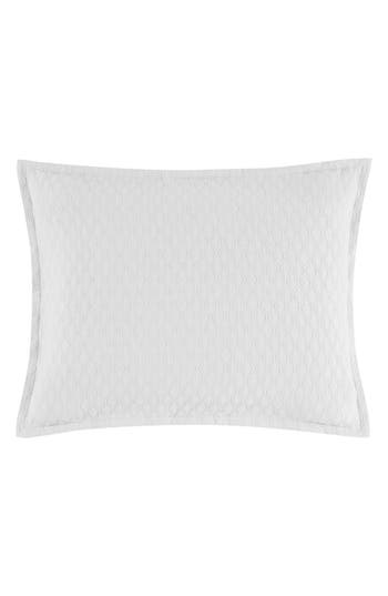 Vera Wang Puckered Diamond Matelasse Sham, Size Standard - White