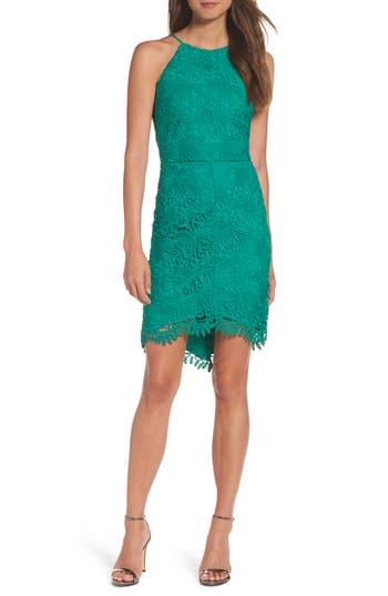 Women's Adelyn Rae Louise Sheath Dress, Size Large - Green