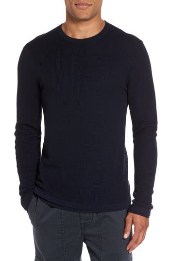 Vince Double Layer Wool Sweater, Blue