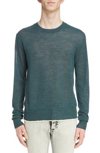Lanvin Contrast Tipped Wool Sweater, Green