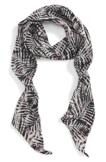 Women's Sole Society Graphic Palm Skinny Scarf