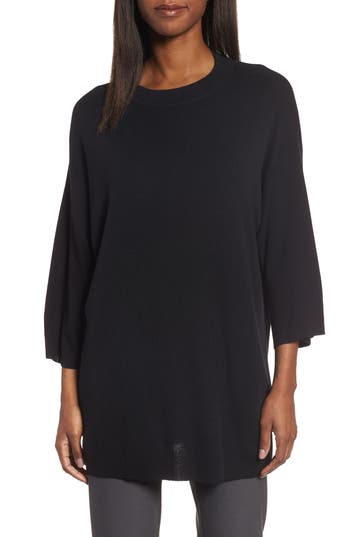 Eileen Fisher Merino Wool Tunic, Black
