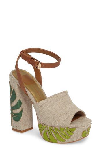 Women's Dolce Vita Lando Platform Sandal, Size 7.5 M - Green